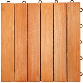 Vifah FSC Eucalyptus Interlocking Deck Tile - 6 Slats