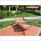 Vifah Steel Arc Stand and Wood Hammock Bed Set