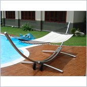 Vifah Steel Arc Stand and Polyester Hammock Bed Set