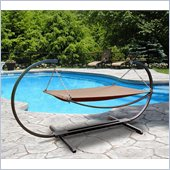 Vifah Giric Outdoor Steel Stand & Polyester Hammock Bed Set