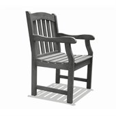 Vifah Renaissance Outdoor Hand-scraped Hardwood Armchair