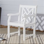 Vifah Bradley Outdoor Wood Armchair