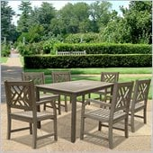 Vifah Renaissance Hand-scraped 7 Piece Dining Set