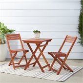 Vifah Premium Hardwood 3 Piece Outdoor Bistro Set