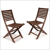 Vifah Outdoor Premium Hardwood Patio Folding Chairs in Oiled Rubbed (Set of 2)