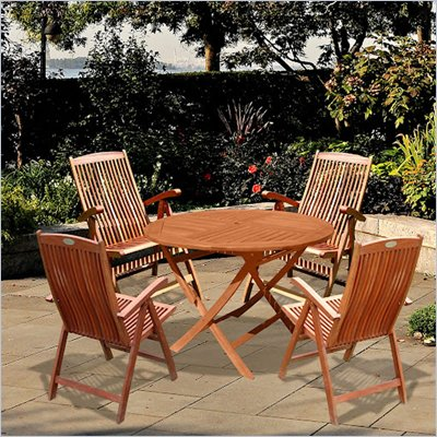 Vifah Outdoor Wooden Dining Set