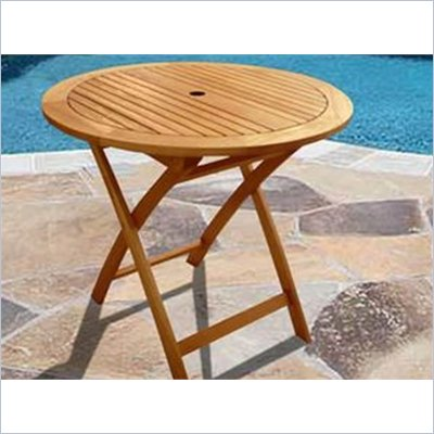 V1240E Outdoor Wood Round Table