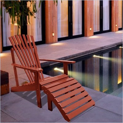Vifah Outdoor Wood Adirondack Armchair