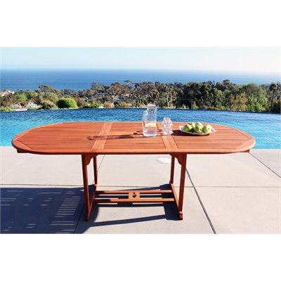 Vifah Outdoor Vista Extension Table with Butterfly