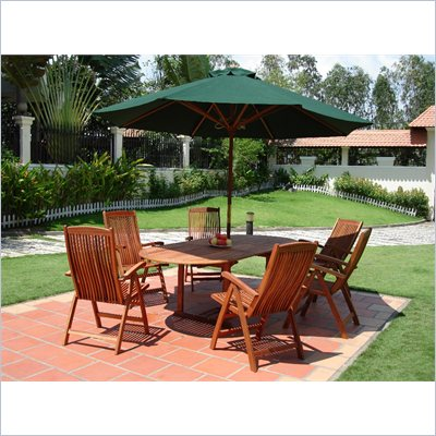 Vifah Vista 7 Piece Dining Set with 6 Armchairs