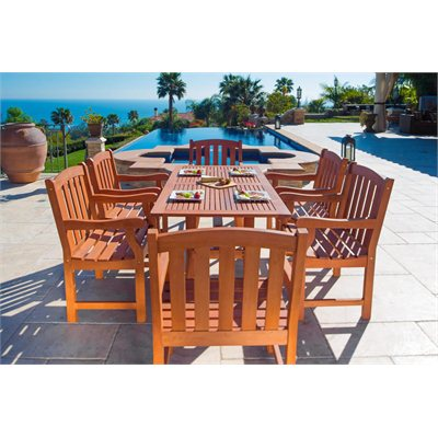 Vifah Atlantic Dining Set with 6 Ward Armchairs