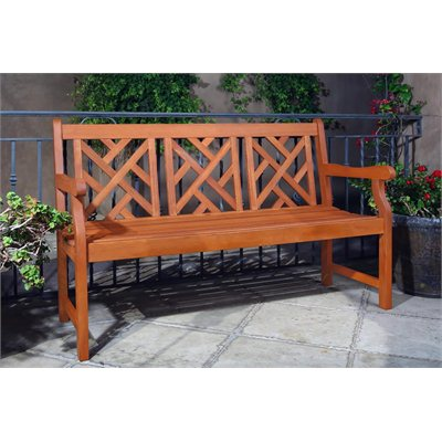 Vifah Atlantic Mahogany Shorea Hardwood Bench