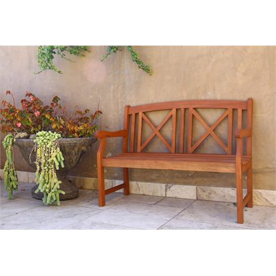 Vifah Outdoor 2 Seater Wood Bench
