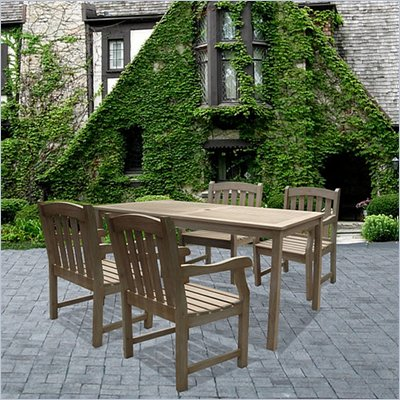 Vifah Renaissance Hand-scraped Hardwood 5 Piece Dining Set