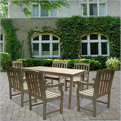 Vifah Renaissance Hand-scraped Hardwood 7 Piece Dining Set