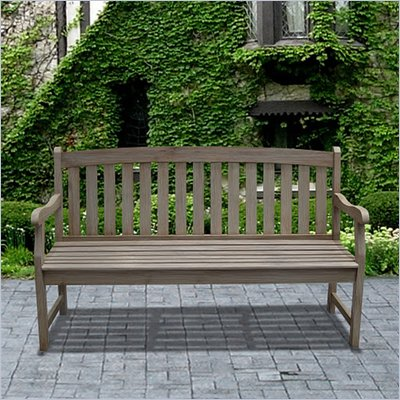 Vifah Renaissance Outdoor Hand-scraped Hardwood Bench