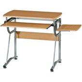 TECHNI MOBILI Cassandra Wood Comptuer Desk in Cherry