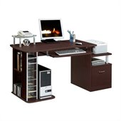 TECHNI MOBILI Winchester Wood Computer Work Station in Chocolate