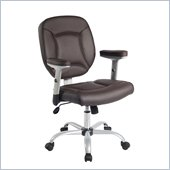 Techni Mobili Upholstered Deluxe Task Chair in Chocolate
