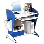 TECHNI MOBILI Lark Wood Student Desk in Blue and White