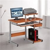 TECHNI MOBILI Conri Wood Computer Desk in Natural