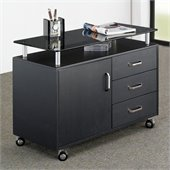 Techni Mobili Seguro Mobile Lateral 3 Drawer Wood File Cabinet in Graphite