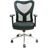 TECHNI MOBILI 0098M Mesh Office Chair in Black