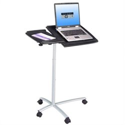 Techni Mobili Adjustable Standing Laptop Cart in Graphite