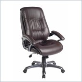 Techni Mobili Executive High Back Chair in Brown