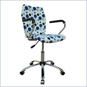 Techni Mobili Swivel Task Chair in Blue Dot