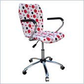 Techni Mobili Swivel Task Chair in Red Dot