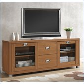 Techni Mobili TV Stand with Two Drawers in Maple Finish