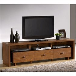 Techni Mobili TV Stand with Three Drawers in Walnut Finish