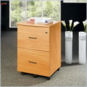 Techni Mobili 2 Drawer Wood Mobile File Cabinet in Oak