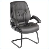 Techni Mobili Upholstered Executive High Back Visitor Chair in Black