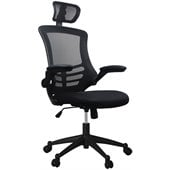 Techni Mobili Executive High Back Chair with Headrest in Black