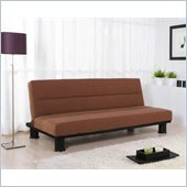Techni Mobili 3 Positions Convertible Fabric Futon Sofa in Sand