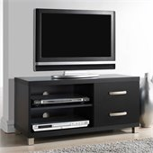Techni Mobili TV Stand with 2 Drawer in Black for TVs Up To 37 Inch