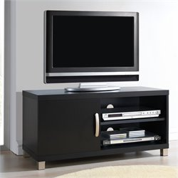 Techni Mobili TV Stand with 1 Door in Black for TVs Up To 37 Inch