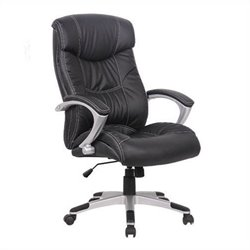 Techni Mobili High Back Executive Office Chair in Black