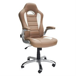 Techni Mobili Sport Race Executive Office Chair in Camel