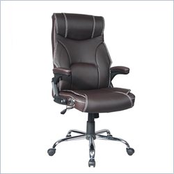 Techni Mobili High Back Reclining Executive Office Chair in Brown