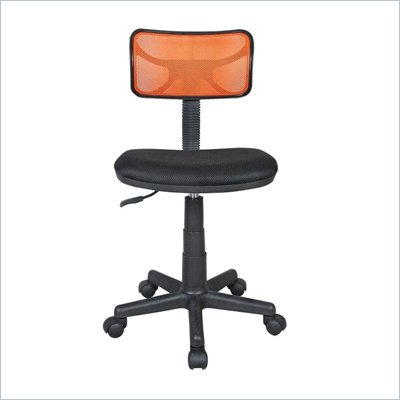 Techni Mobili Mesh Task Chair in Orange