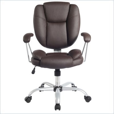 TECHNI MOBILI 0930 Ergonomic Task Chair in Chocolate