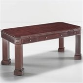 DMi Oxmoor Wood Writing Desk in Cherry Merlot