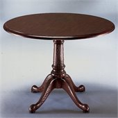 DMi Governors Round 4' Conference Table with X-Shaped Base in Mahogany