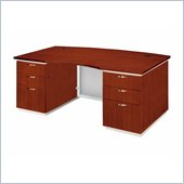 DMi Pimlico Veneer Executive Bow Front Desk (Assembled)