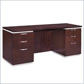 DMi Pimlico Veneer Wood Kneehole Credenza with Flat Ends (Assembled_