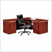 DMi Pimlico Veneer Executive Left L-Shaped Desk (Assembled)