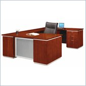 DMi Pimlico Veneer Executive Right U-Shaped Desk (Assembled)